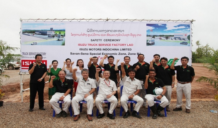Safety Ceremony for Isuzu Project